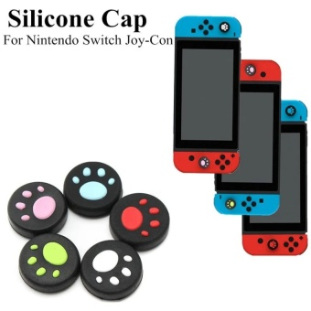 5pcs Silicone Thumb Grip Stick Cap For Nintendo Switch Joy-Con Controller - intl