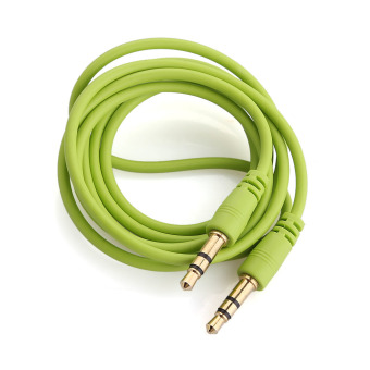 AUX Cable 3.5mm 3 Pole Male to Male Jack Audio Stereo Extension Cord Green