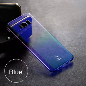 Baseus Brand Luxury Case for Samsung Galaxy S8 5.8inch Aurora Gradient Color Transparent Hard PC