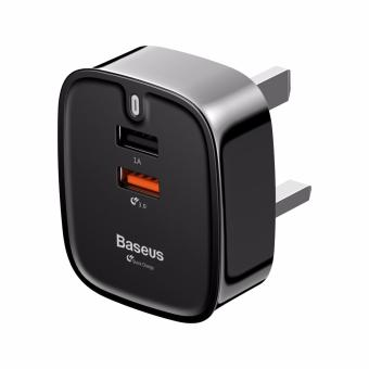 Harga Baseus Quick Charge Funzi Dual USB Wall Charger (UK Plug)