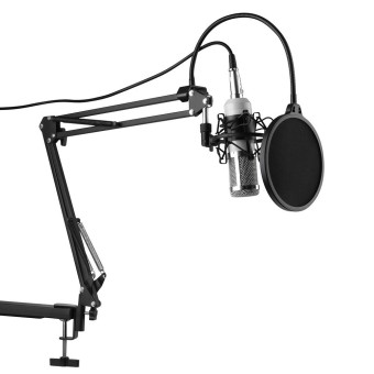 BM-800 Condenser Microphone Vocal Studio Recording Kit Shock Mount White - intl
