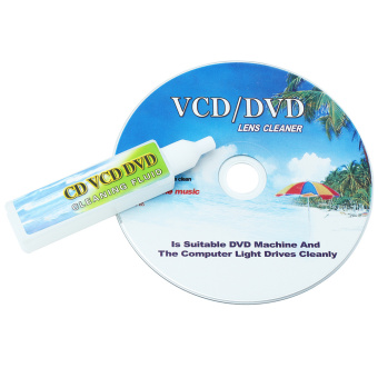 CD DVD VCD Player Lens Cleaner Dirt Dust Remover Restore with Cleaning Fluid - Intl