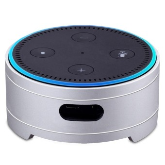 Echo Dot Holder Case Aluminum Alloy Guard Stand Mount Base Speakers Holder Base for Amazon Echo Dot 2nd Generation Speaker - intl