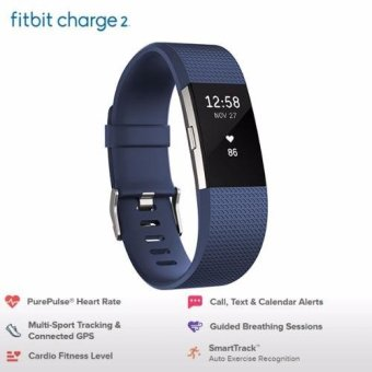 Fitbit Charge 2 Heart Rate+Fitness Wristband (Large)