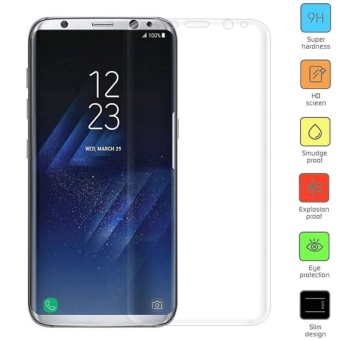 For Samsung Galaxy S8 Plug Full Cover 3D Screen Protector Film Cover Guard Protector - intl