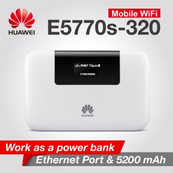 Huawei E5770 Mobile WiFi Pro (Work As Power Bank) - 5200 mAh + USB Sling Cable