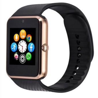 Harga GT08 Smart Watch Sync SIM Card Bluetooth for Apple iphone Android Phone (Gold)