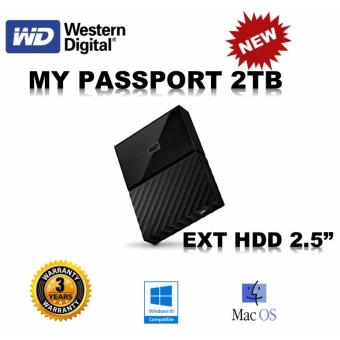 Harga WD My Passport 2TB (Black) Ext HDD External Hard disk USB 3.0 HDD (Singapore Set)