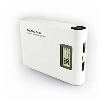Harga Authentic PINENG PN-913 10000mAh Dual USB Power Bank PowerBank Portable Charger White