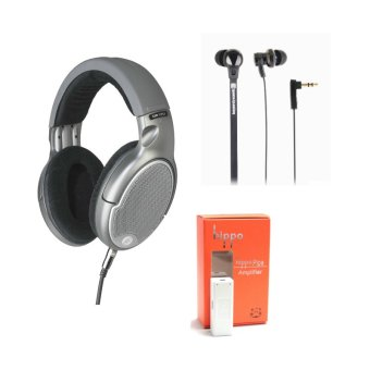 Harga Goldring DR150 Over-The-Ear Headphones with Beyer XP Earphones hippo Pipe Portable Amplifier (Grey)