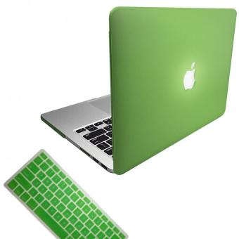 "Harga Matte Hard Plastic Protective Case + Keyboard Cover for Apple 13"" (13.3"") MacBook Pro Retina Laptop - Green"