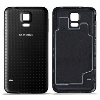 Harga Replacement White Battery Door Back Cover with Rubber Seal Waterproof Gasket For Samsung Galaxy S5 (Black)