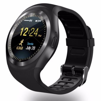 Harga TOPWRX Y1 Round Bluetooth 3.0 Wearable Smart watch Men Women Classical Business Smartwatch for Android - intl