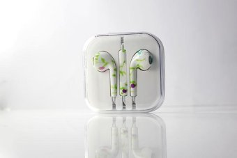 Harga Rorychen Printed with Wheat Thread Original Wired In-Ear Earphones for Apple IPhone 5 5C 5S 6 6S 6 Plus 6S - intl