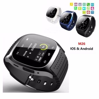 Harga M26 Bluetooth Smart Wrist Watch Sync Phone Mate for Android iOS Smartphone Black - Intl