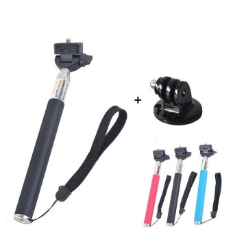 Harga YICOE Monopod Selfie Stick Tripod Mount Adapter handheld for Go pro 5 4 3 Xiaomi Yi 4k SJCAM SJ4000 EKEN H9 GoPro Action Sport Camera Accessories