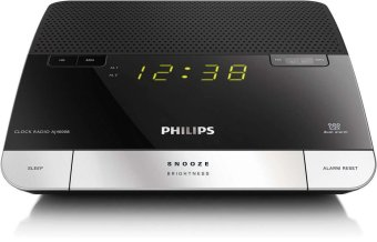 Harga Philips AJ4000B Radio Clock Dual Usb (Black)