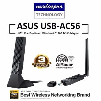 Harga ASUS USB-AC56 Dual-band Wireless-AC1300 USB 3.0 Wi-Fi Adapter
