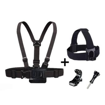 Harga Head Strap Chest Harness Camera Strap Mount for Gopro SJCAM SJ7000 SJ9000 Eken Xiaomi Yi - intl