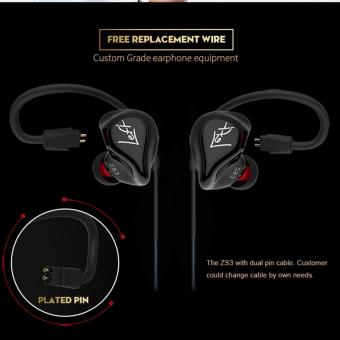 Harga KZ ZS3 Professional Hifi 3.5mm in-Ear Earphone Heavy Bass Music (with microphone) - intl