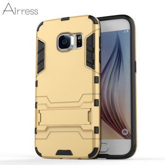 Airress TPU/PC 2in1 Armor Rugged Military Grade Phone Case Cover for Samsung Galaxy S7(Gold)