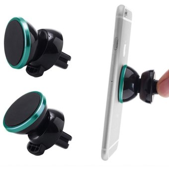 Harga Universal 360 Car Air Vent Mount Magnetic Cradle Holder Stand for Samsung iPhone (Blue)