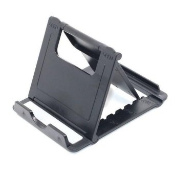 Harga Universal Desk Foldable Stand Holder Mount for iPhone Samsung Cell Phone Tablet (Black)(EXPORT)