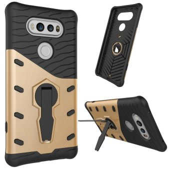 Harga Heavy Duty Shockproof Dual Layer Hybrid Armor Defender Full Body Protective Cover with 360 Degree Rotating Kickstand Case for LG V20 - intl