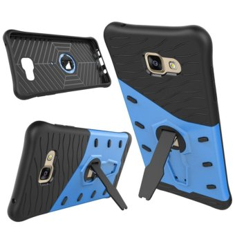Harga Heavy Duty Shockproof Dual Layer Hybrid Armor Defender Full Body Protective Cover with 360 Degree Rotating Kickstand Case for Samsung Galaxy A7 2016 - intl