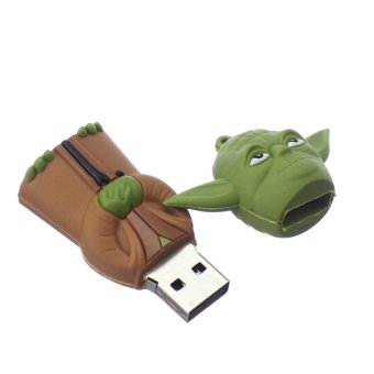 Harga WHD Yoda 4GB Flash Drive (Brown/Green) - Intl