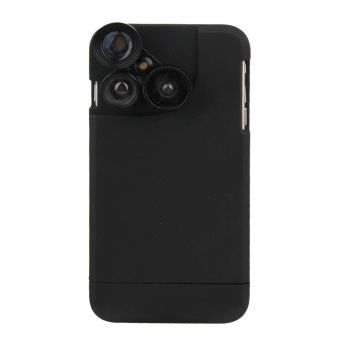 4 in 1 Wide Angle + Macro + Fisheye + Telephoto Camera Lens with Phone Case for iPhone 6 6s - intl