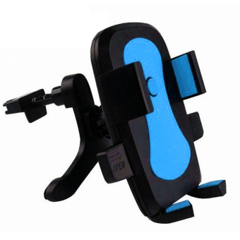 Harga Universal 360 Degrees Rotation Car Clip-on Air Vent Mount Mobile Phone Holder Clips for iPhone Samsung Google 5-10cm Width Cellphones Blue - Intl