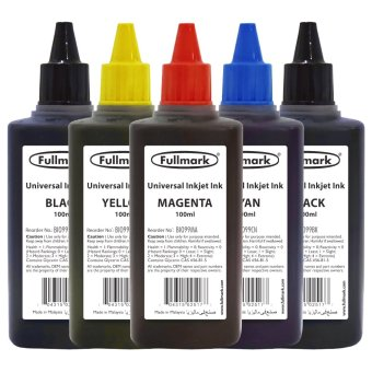 Harga Fullmark Universal Inkjet Ink Ultra Value Set, 100ml (2 x Black, 1 x Cyan, 1 x Magenta and 1 x Yellow) - compatible with HP, Canon, Epson, Brother and Lexmark