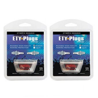 Harga [2-PACK BUNDLE]Etymotic Research ER20 Ety-Plugs Hearing Protection Earplugs 1 Pair/pack
