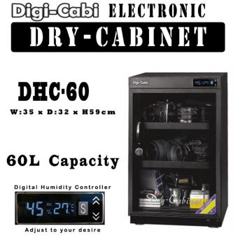 Harga DHC-60 | 60L Digi Cabi Electronic Dry Cabinet | 5 Years Warranty |