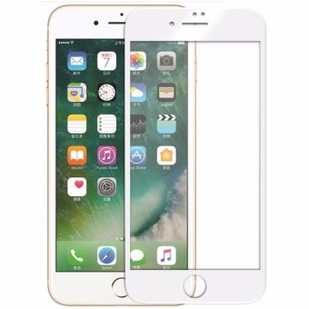 [Crystal Series] Front Ultra Clear 3D Full Coverage Tempered Glass Screen Protector and Back Matte PET Film for Apple iPhone 7 Plus [White Frame] - intl