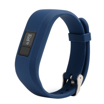 Wrist Band With Metal Buckle For Garmin Vivofit 3(Dark Blue) - intl