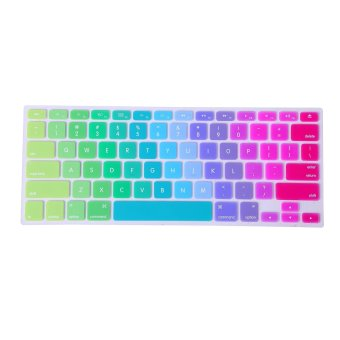"US Layout Silicone Rubber Keyboard Skin Cover for Macbook Pro 13"" 15"" 17"" and MacBook Air 13"" Laptop Keyboard(Rainbow) - intl"