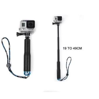 Harga GoPro Selfie Stick self pole Aluminum Handheld Monopod for Go pro Hero 4/3+/3/2/1 Adjustable length/ waterproof /high quality(Blue) - intl