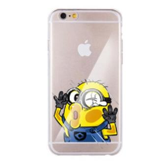 Harga (Minion) Character Cheek Clear Case Casing Cover for iPhone 6 Plus / 6S Plus