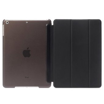 Harga De Cheng Non detachable Smart Cover with Back for Apple iPad 6 (Black)