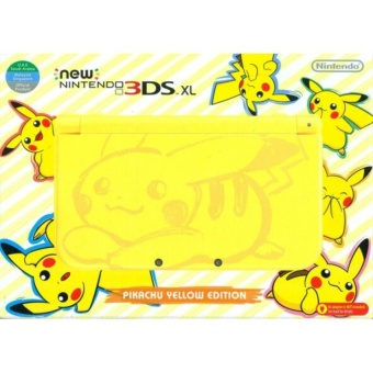 Harga Nintendo 3DS XL Pikachu Yellow Edition (Asia) with 3 Amiibo and USB Cable Bundle