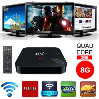 Harga High Quality Brand New MX III Android 4.4 Quad Core Media Player TV BOX DDR3 2GB