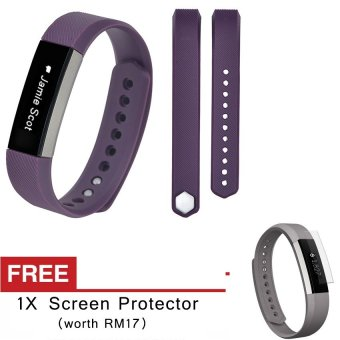 Harga Awinner OEM-Large Size Silicone Watch band Wrist Strap For Fitbit Alta- (purple) Free Screen Protector (5-PCS)