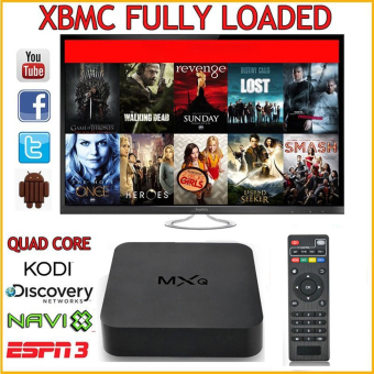 Harga MXQ Android 4.4 Quad Core WiFi XBMC Kodi 1080P Smart TV Box 8GB Media Player EU