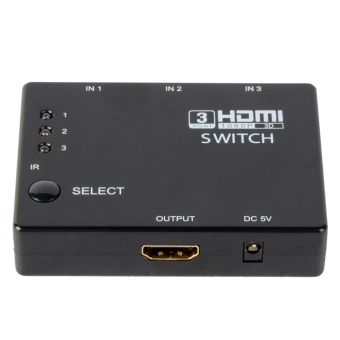 Harga 3 HDMI Switcher HDMI Splitter HD into a remote control port switching hub- - intl