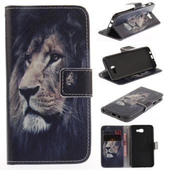 Harga Colorful Painting PU Leather Flip Stand Protective Case Cover with Card Slots / Cash Pocket Case Cover for Samsung Galaxy J5 Prime - intl