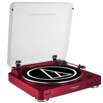 Harga Audio-Technica AT-LP60-USB Turntable (Red)