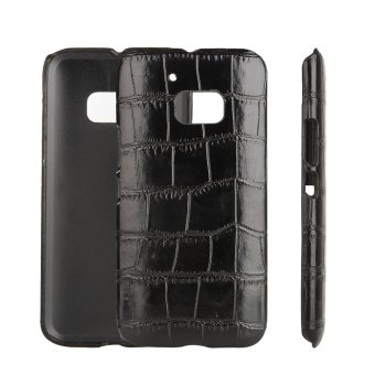 Harga Moonmini PU Leather Snap-On Back Case Cover For HTC One M10 / HTC 10 (Crocodile Grain)