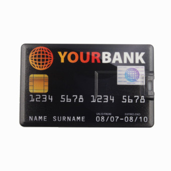 Harga WHD Bank Credit Card Shape USB 32GB Flash Drive - Intl